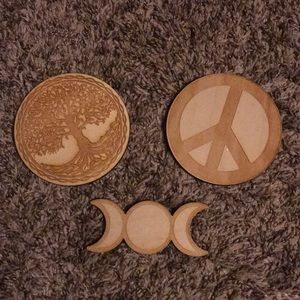Three New Wooden Crystal Grids